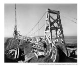 Men working on the walkway out to Point Bonita lighthouse, date unknown