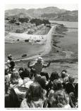 Ranger with group of children overlooking Fort Cronkhite, 1980.