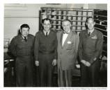 Major Toy, Col. John Beck, Executive Officer, and the Postmaster of the Presidio, c. 1952.