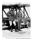 Capt. Lowell H Smith and Lieutenant John P Richter with Douglas World Cruiser airplane, c 1920s. The Douglas World Cruiser was commissioned by the U.S. Army Air Service in order to complete an around the world flight.