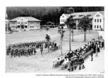 Presentation of awards at the completion of the citizens military training camp at Fort Scott, July 1933. The training allowed male citizens to obtain basic military training without an obligation for active duty.