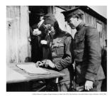 Captain Lowell Smith and Col Hap Arnold signing the flight log at Crissy Field, 1919
