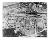 Aerial view of Letterman General Hospital c1918. Note the WWI barracks on Crissy Field.