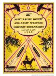 Army Relief Society and Army Welfare Military Tournament program, 1928.