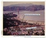 Aerial view of the Presidio of San Francisco showing the proposed Bowling Center site, 1987.