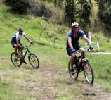 Mountain bikers on the route