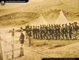 Troops muster for review at Gillem's Camp during the Modoc War.