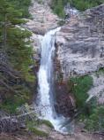 Mill Creek Falls drops 70 feet from a narrow chute