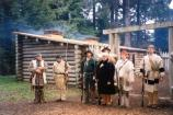 Reenactors Drilling at Fort Clatsop