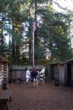 Flag Raising at Fort Clatsop
