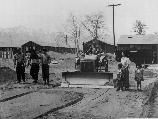 A street is being constructed at this War Relocation Authority center for evacuees of Japanese ancestry.