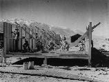 Manzanar, California - Construction begins at Manzanar, now a War Relocation Authority center for evacuees of Japanese ancestry.