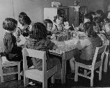 Children around a table