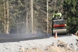 With a strech of good weather in early February, park road crews finished paving the new park road at Sunshine Point.