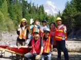 The Japan Volunteers-in-Parks Association, hard at work at Kautz Creek