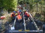The Japan Volunteers-in-Parks Association builds an accesible boardwalk at Kautz Creek