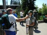 A Student Conservation Association intern leads an interpretive walk at Paradise