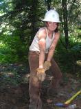 SCA Crew Leader Liz Brown helps with Wonderland Trail repairs in Stevens Canyon.