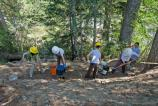 Volunteers work on rebuilding a section of the Wonderland Trail above Cougar Rock on National Trails Day, June 2nd.