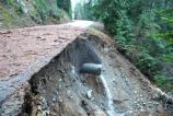 Another undermined section of Highway 123.