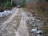Cascade River Road MP 20.2 emergency repair after storm damage