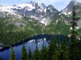 Thornton Lake Trail is a fairly steep trail leading to a high mountain lake.