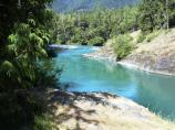 Elwha River during height of summer