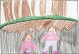 child, drawing, oregon caves, field trip