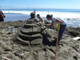 2012 Sand Sculpture Contest: Adult/Family Group Honorable Mention: Entry #17: Matsu-moat-o Pagoda, by the Costello family