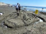 2012 Sand Sculpture Contest: Adult/Family Group Entry #23: Folsom Prisoners, by Budena family