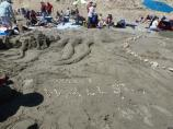 2012 Sand Sculpture Contest: Adult/Family Group Entry #24: Octopi Wall Street, by Paulos, Smith, Kershaw