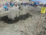 2012 Sand Sculpture Contest: Adult/Family Group Entry #25: Duck, Duck, Duck, by the Li family