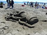 2012 Sand Sculpture Contest: Adult/Family Group Entry #32: Peanut Butter and Jelly, by Ramirez and Monroy