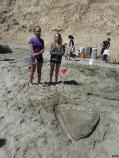 2012 Sand Sculpture Contest: Children's Group Entry #03: Starbucks and Shopping, by Sara, Maddie