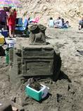 2008 Sand Sculpture Contest: Best Use of Plastic Winner: Entry #25: WALL-E Meets Whal-E, by Oaklandish