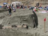 2009 Sand Sculpture Contest: Adult/Family Group 2nd Place Winner: Entry #03: Bummer Hummer, by the Garriott Family