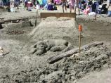 2007 Sand Sculpture Contest: Family Group Entry #08: Sweet Dreams, by Kingdon