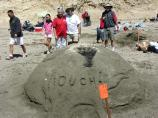 2007 Sand Sculpture Contest: Family Group Entry #11: Our Carbon Footprint, by Scott/Mandel/Adams