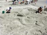 2007 Sand Sculpture Contest: Family Group Entry #21: Octopus, by Aaron Lisker