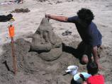 2007 Sand Sculpture Contest: Family Group Entry #25: Ganesha, by Joe Peter