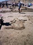 2007 Sand Sculpture Contest: Children's Group Entry #06: Wild Mer-Child, by Amelia, Julia, Oliver, Bronwyn, Sara