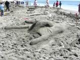 2008 Sand Sculpture Contest: Adult/Family Group Entry #08: Show Me Love, by US