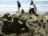 2008 Sand Sculpture Contest: Adult/Family Group Entry #10: Castle Baby, by Bailey, Newberry and Cain