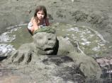 2008 Sand Sculpture Contest: Adult/Family Group Entry #15: Bad Day at the Beach, by the Garriot Family
