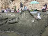2008 Sand Sculpture Contest: Adult/Family Group Entry #23: Mean Green Recycling Machine, by the Miller Family