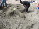 2009 Sand Sculpture Contest: Children's Group Entry #11: Snake and Rat, by Carino and Samantha