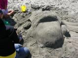 2010 Sand Sculpture Contest: Children's Group 2nd Place Winner: Entry #04: Taxi To Drakes Beach, by the Sanchez Family