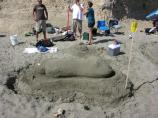 2010 Sand Sculpture Contest: Adult/Family Group Entry #32: Big Foot, by Csilla Kato