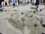 2010 Sand Sculpture Contest: Children's Group Entry #06: The Shell Winner, by Siriam and Singhal