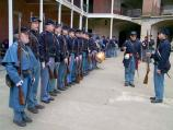 Photograph of Civil War re-enactors at Fort Point.